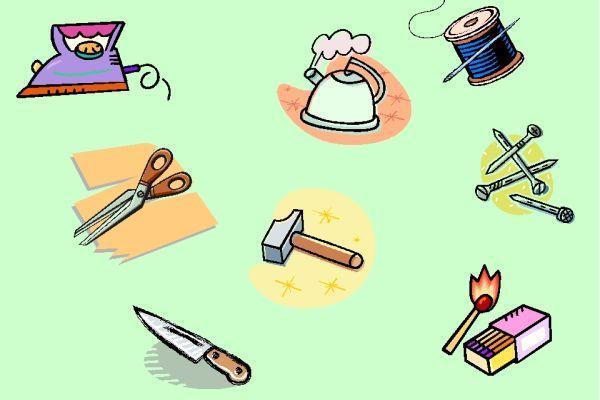 опасные предметы для детей