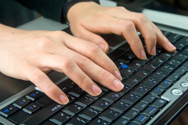работа на клавиатуре